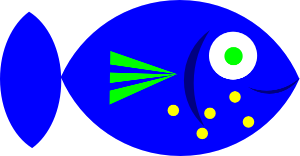 600x313 Blue Fish clip art Free Vector 4Vector