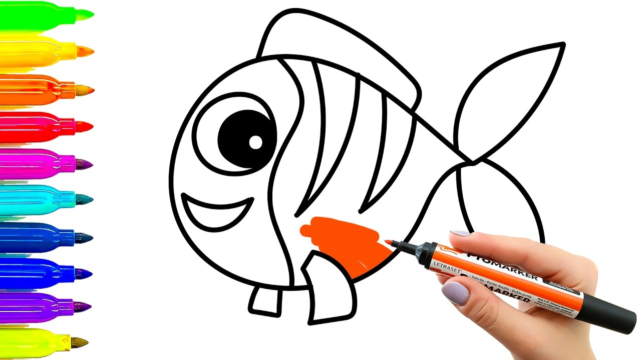 Fish drawing for kids free download best fish drawing for Best fish for kids