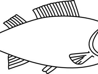 320x240 Fish Outline. Angler Fish Angler Fish Outline Colouring Page