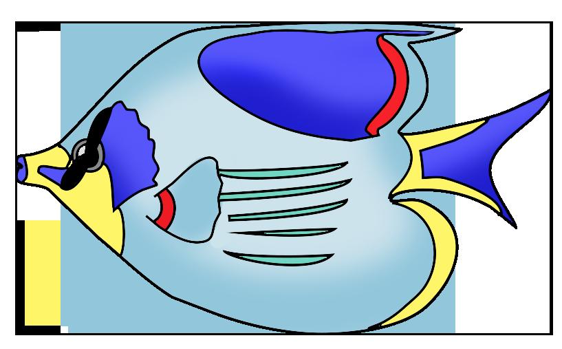 817x507 Drawn fish transparent