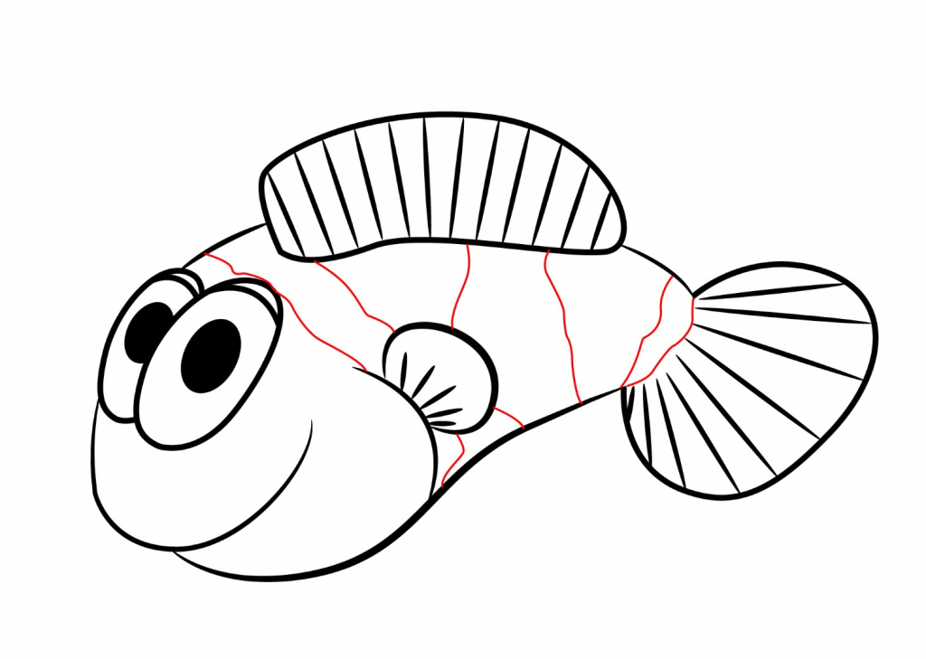 1024x729 Anime Fish Drawings How To Draw A Cartoon Clownfish Draw Central