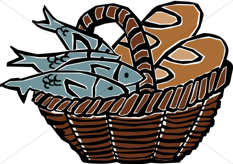 776x546 Loaves And Fishes New Testament Clipart