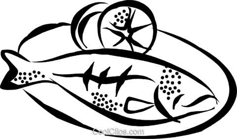 480x281 Fish Dinner Clipart