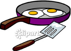 300x214 Fried Egg Clipart Frypan