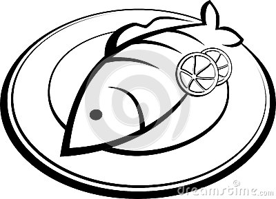 400x289 Plate Clipart Fish