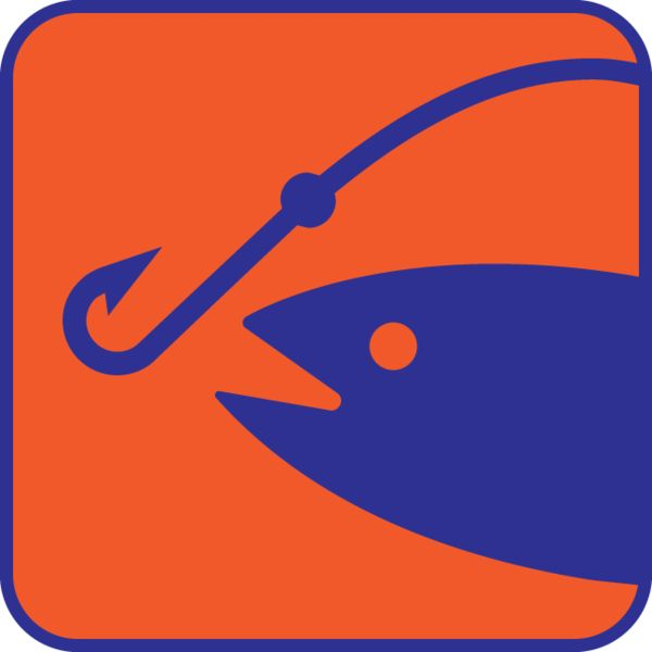 Fish On A Hook Clipart