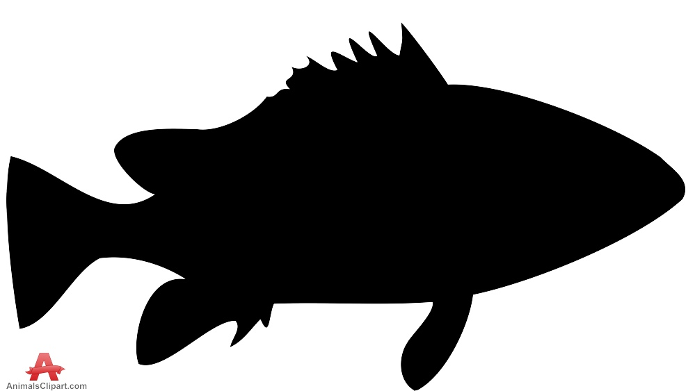 Fish outline silhouette. Free download best on