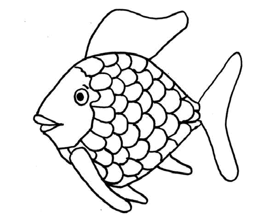 Fish outline coloring. Outlines free download best