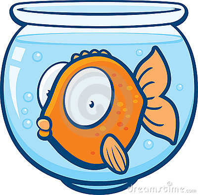 400x394 Fish Bowl Clipart Line Art