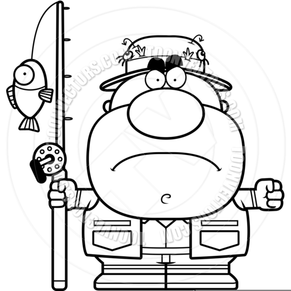 600x600 Fisherman Clipart Black And White Free Images