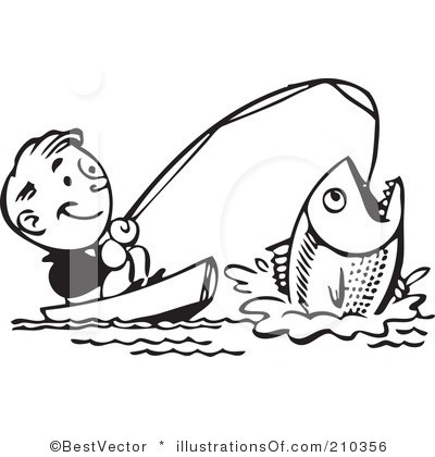 400x420 Fisherman With Net Clipart Black And White Letters Example
