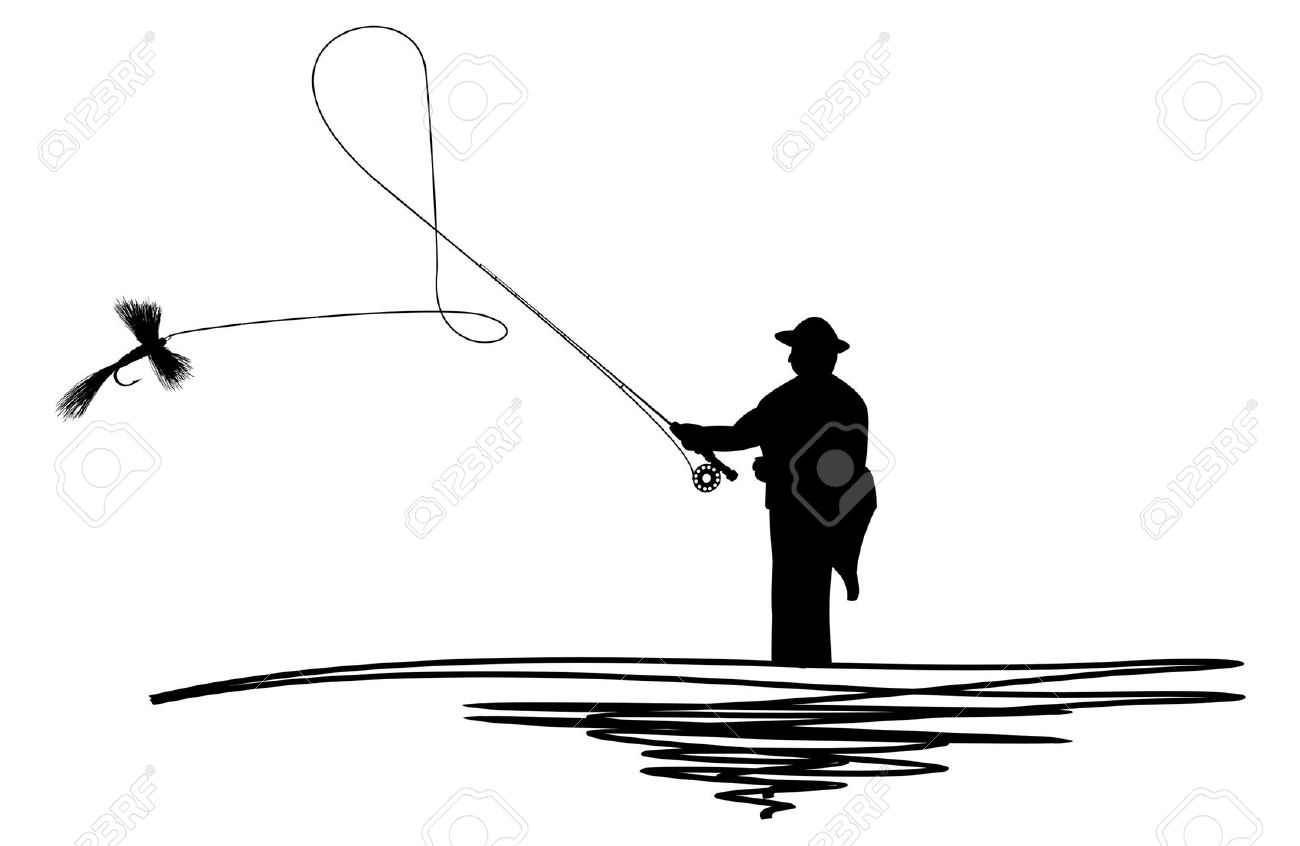 1300x846 Fly Fisherman Clipart
