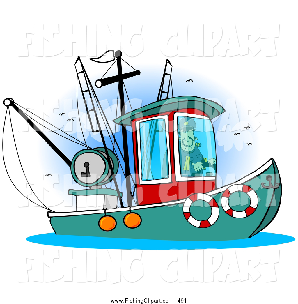 1024x1044 Clip Art Of A Trawler Fishing Boat