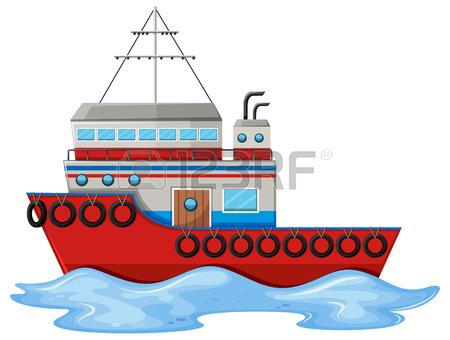 450x340 Fishing Boat On White Background Illustration Royalty Free