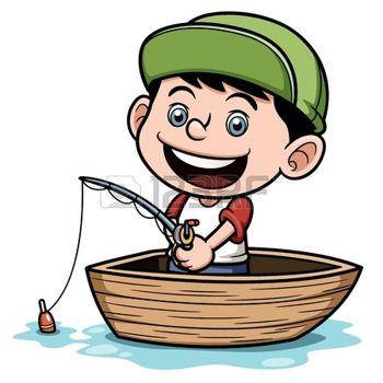 350x350 Illustration Von Boy Angeln In Einem Boot Photo Basteln Mit