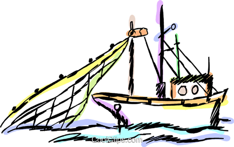 480x302 Commercial Fishing Boat Royalty Free Vector Clip Art Illustration