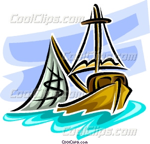 300x288 Commercial Fishing Boat Vector Clip Art