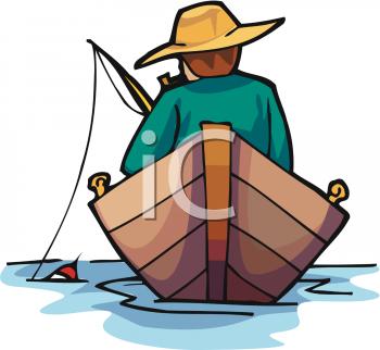 350x322 Fishing Boat Clipart Man Fishing