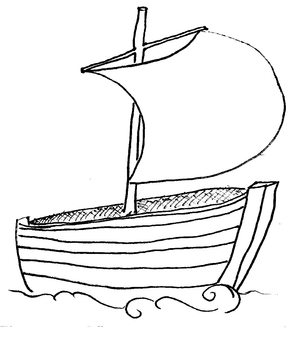 1000x1158 Fishing Boat Clipart Outline