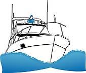 170x145 Sport Fishing Boat Clip Art