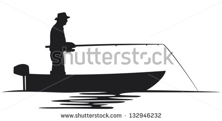 450x246 Man Fishing Out Of A Bass Boat Clipart