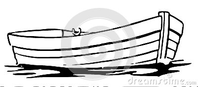 400x176 Row Boat Black And White Clipart