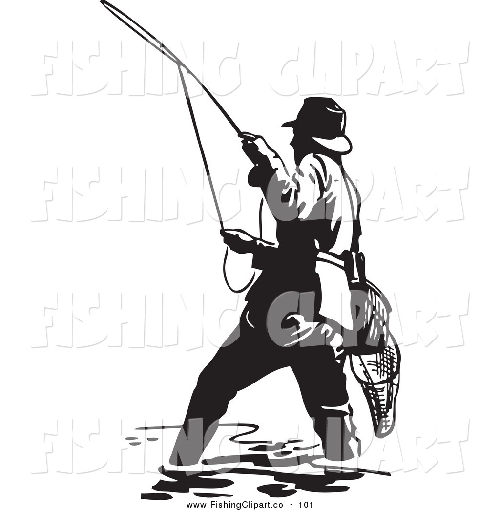 1024x1044 Royalty Free Black And White Retro Stock Fishing Designs