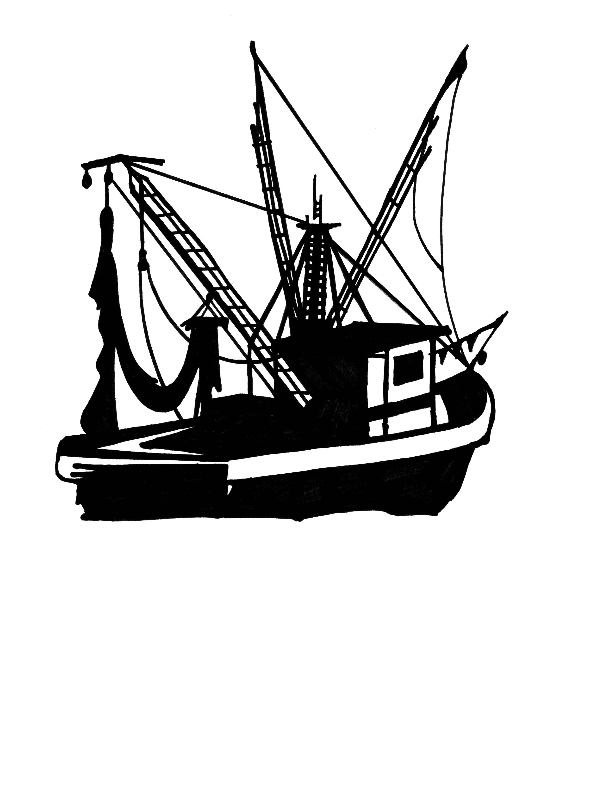 2534x3285 Boat Clipart Shrimp Boat