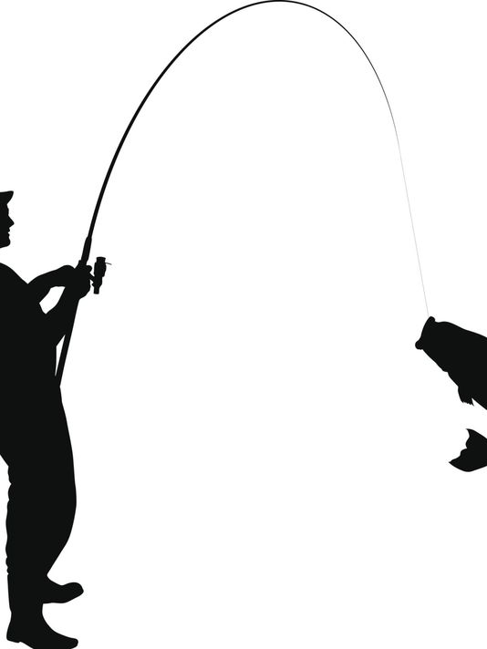 534x712 Fishing Clipart Silhouette