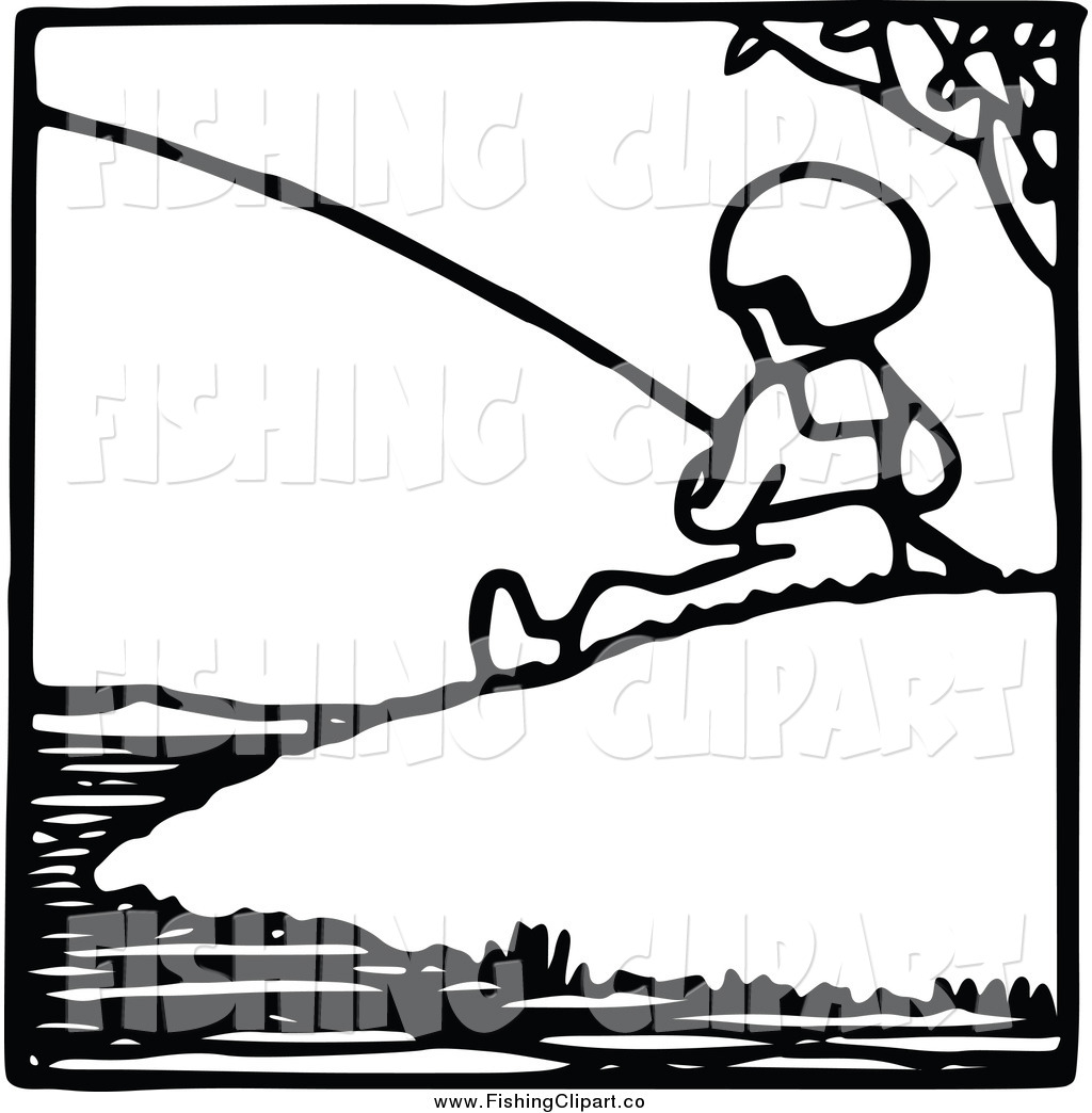 1024x1044 Royalty Free Black And White Stock Fishing Designs