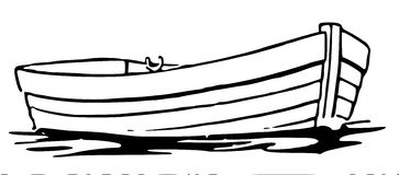 363x160 Boat Clipart Black And White