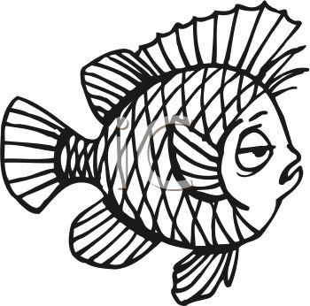350x346 Cute Fish Clip Art Black And White Clipart Panda