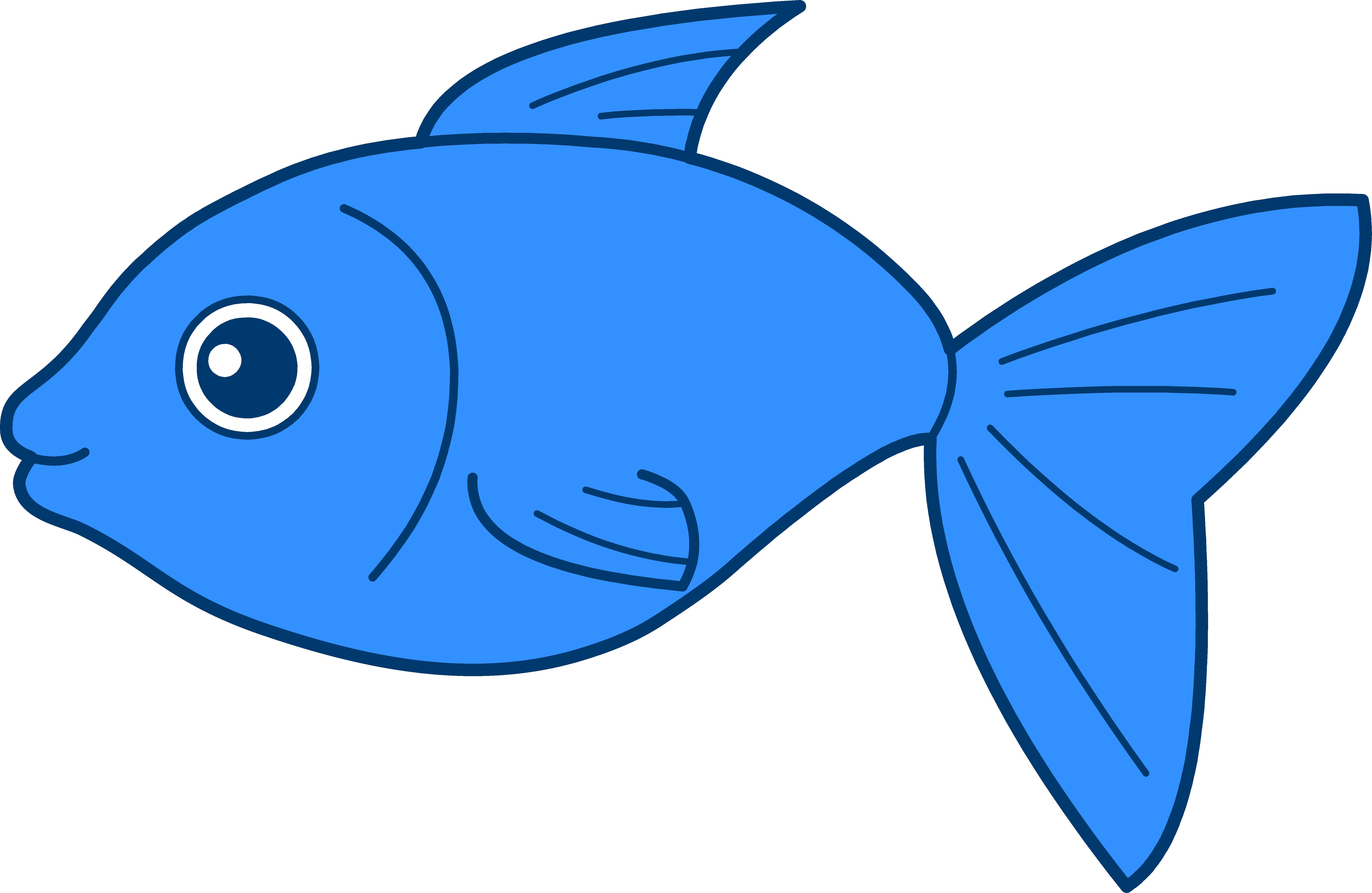 6805x4431 Blue Fish Clip Art Free Clipart Images