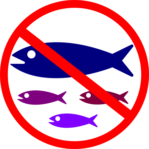 600x600 No Fishing Sign Clip Art