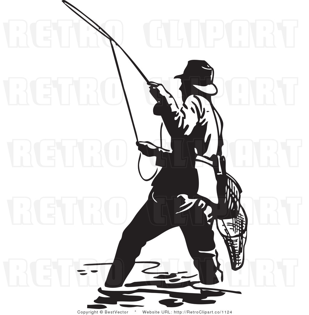 1024x1044 Fishing Clipart Retro