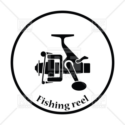 400x400 Icon Of Fishing Reel Royalty Free Vector Clip Art Image