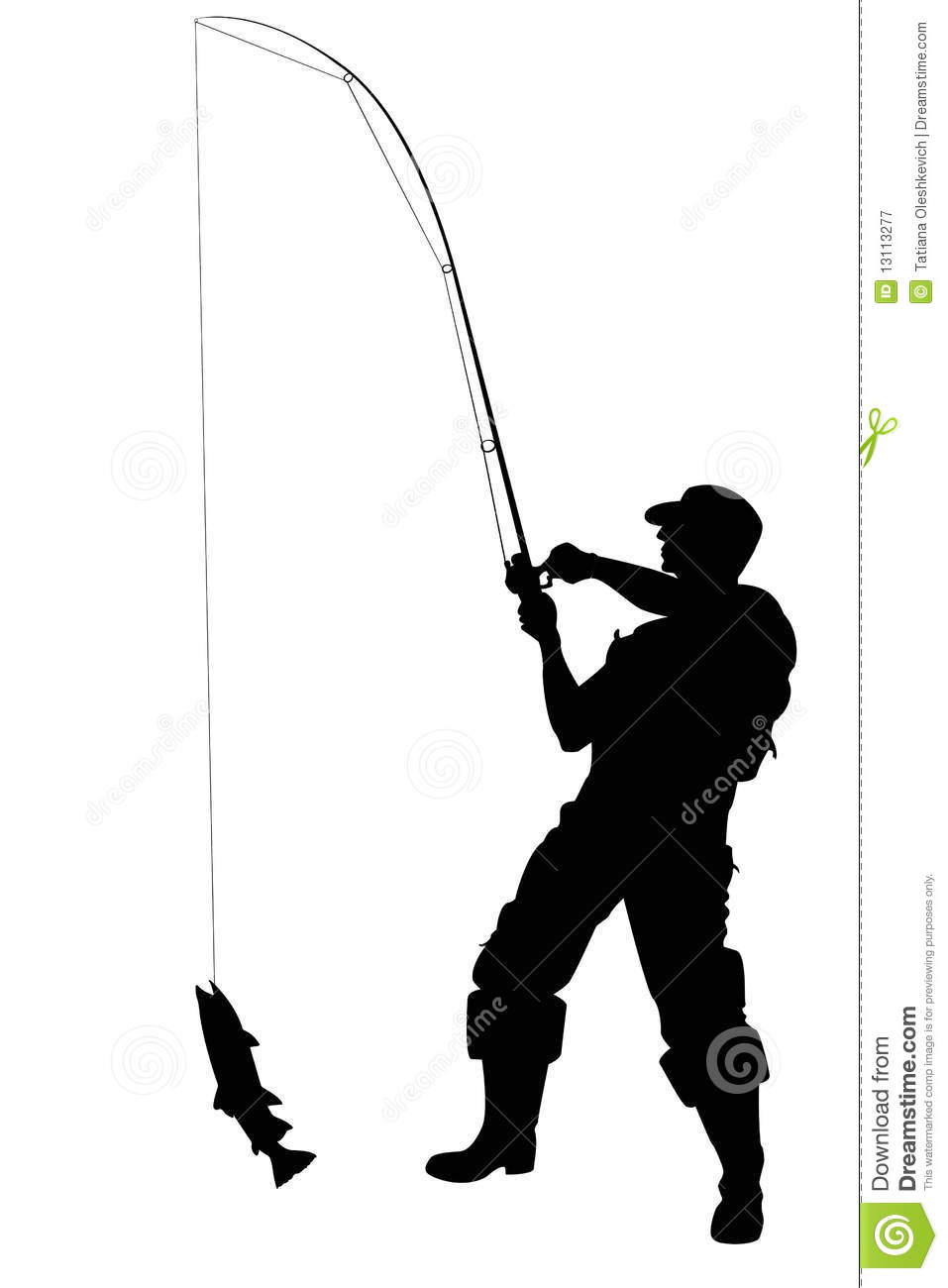 957x1300 Man Fishing Silhouette Clipart