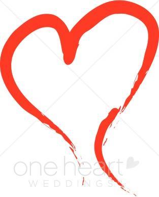313x388 Brush Stroke Heart Clipart