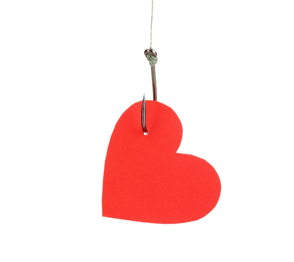 1000x892 Heart Fish Hook Clipart