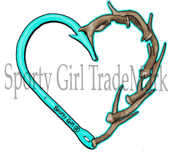 601x541 Antler Clipart Fishing Hook