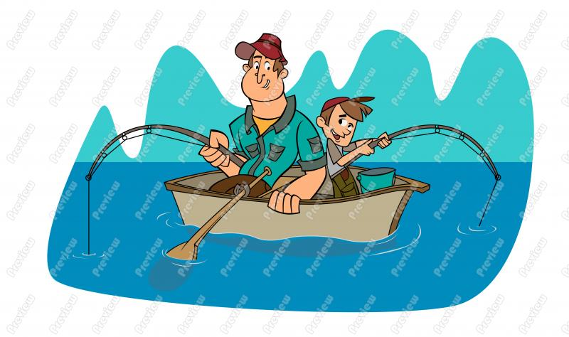 800x474 Father And Son Fishing Clip Art