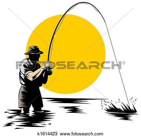 450x437 Fly Fishing Clip Art Many Interesting Cliparts