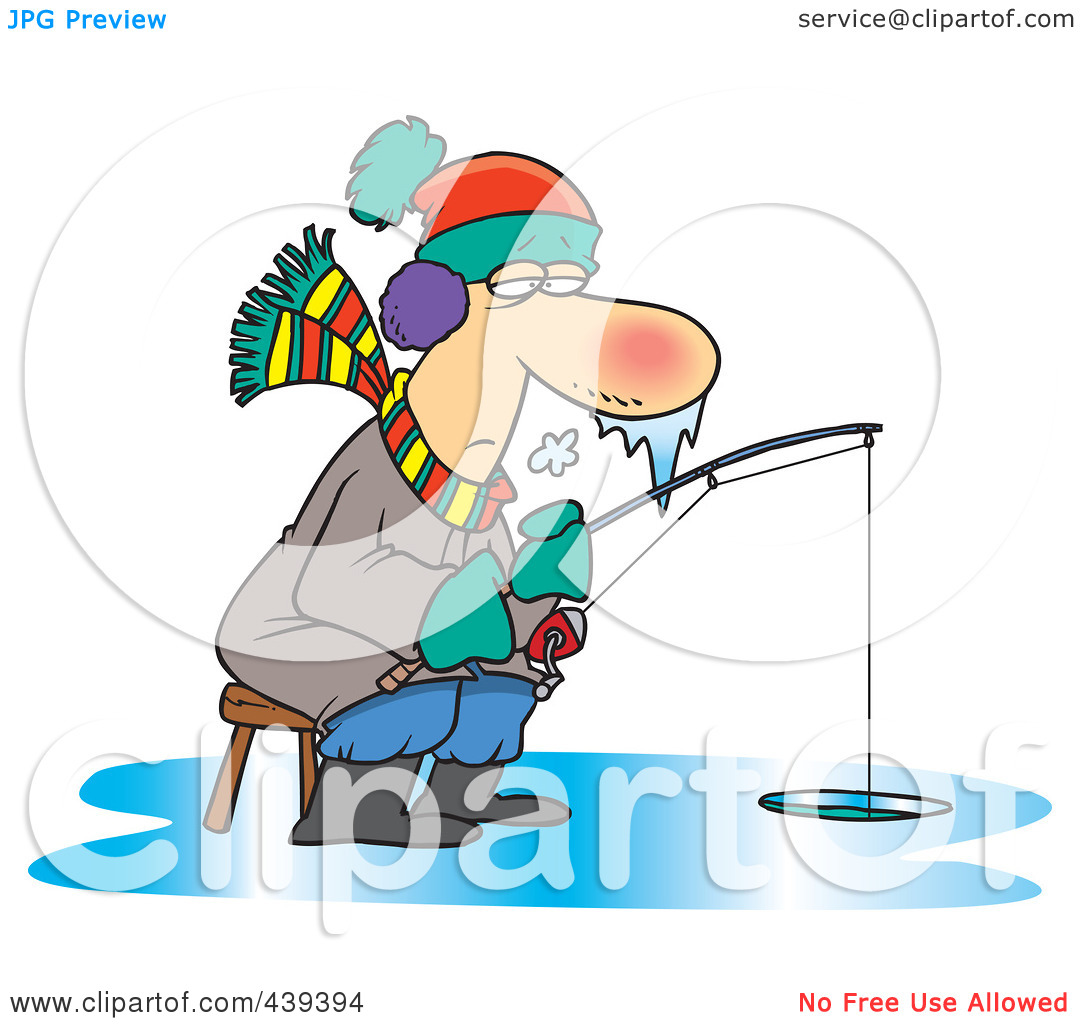 1080x1024 Funny Ice Fishing Clipart
