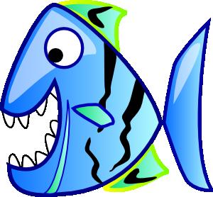 300x278 Blue Fish Clip Art