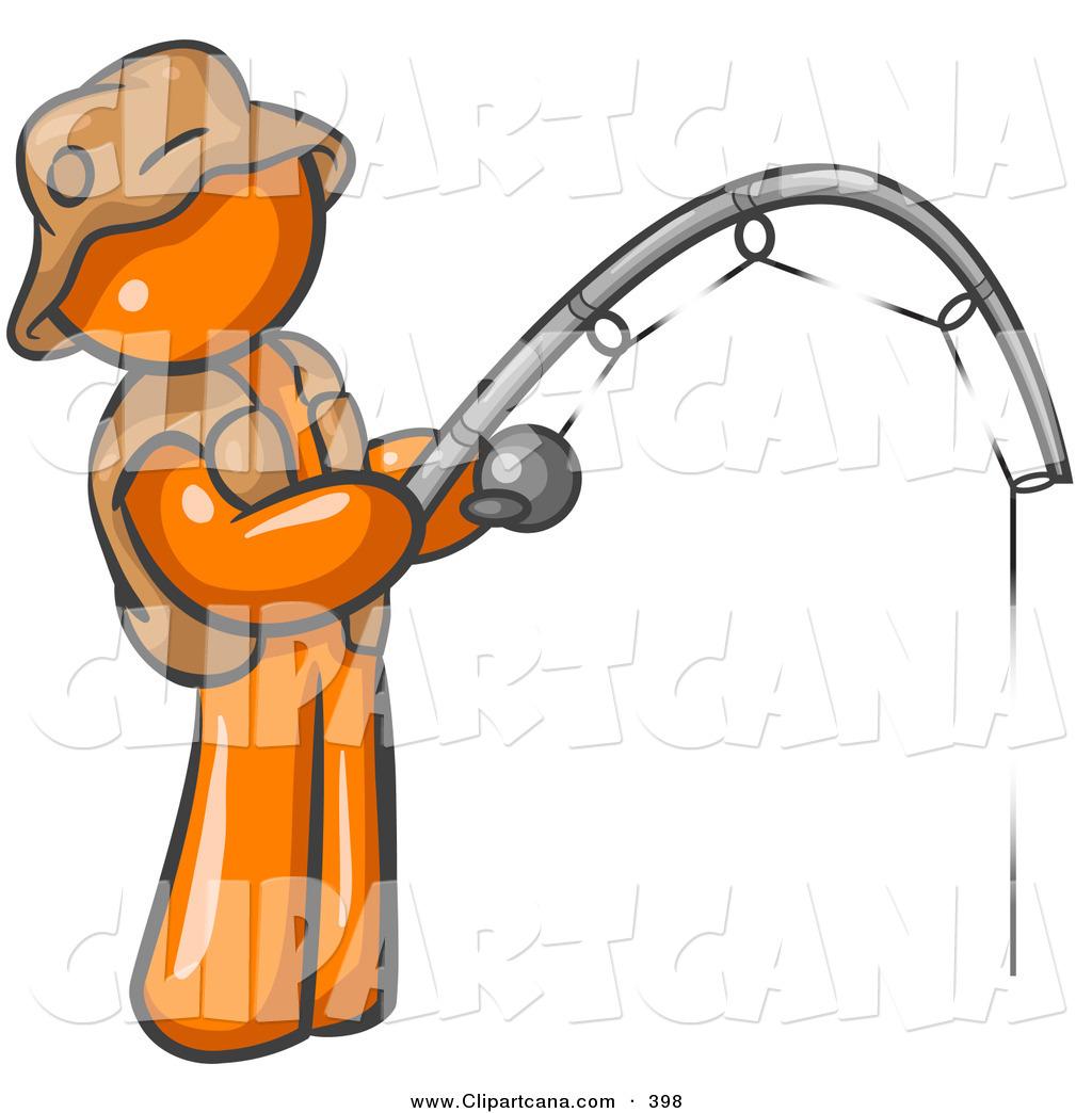 1024x1044 Vector Clip Art Of A Sporty Orange Man Wearing A Hat Vest