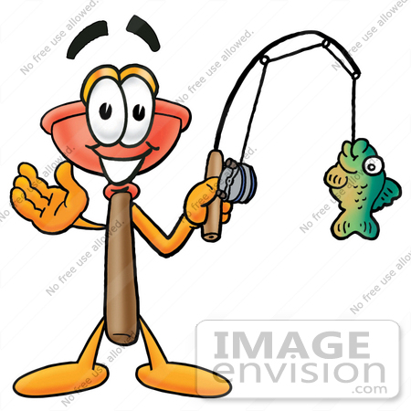 450x450 Clip Art Graphic Of A Plumbing Toilet Or Sink Plunger Cartoon