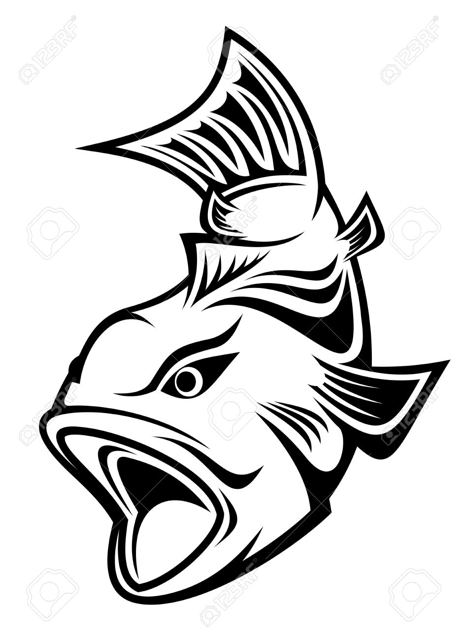 942x1300 Carp Clipart Fish Line