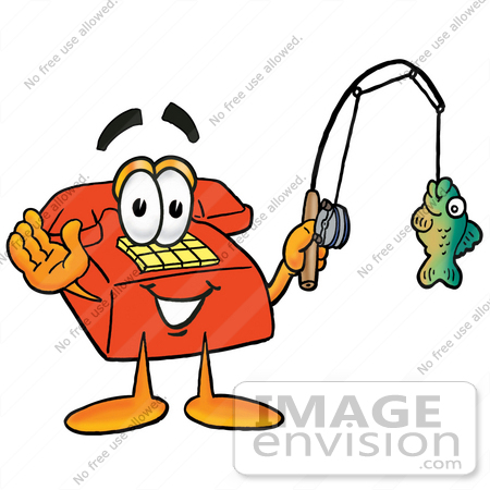 450x450 Clip Art Graphic Of A Red Landline Telephone Cartoon Character