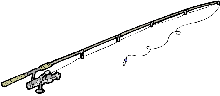 750x328 Lines Clipart Fishing Pole