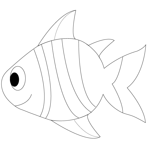600x600 Outline Drawings Of Fish Group